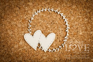 .Chipboard - Hearts in a frame - Simple Wedding
