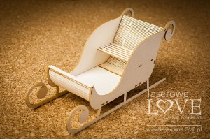 Chipboard - Big Santa's sleigh - Winter Fun