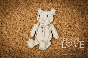 .Chipboard - Layered Teddy bear - Vintage Baby