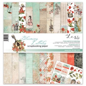 Set of papers 30x30 cm  - Blooming Lullaby - Lexi Design