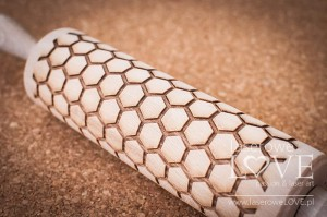 Engraved rolling pin - Honeycomb