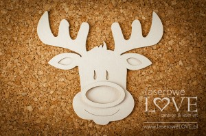 Chipboard - Reindeer shaker box - Winter Fun