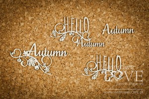 Chipboard - Autumn- Hello Autumn