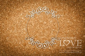 Tekturka - Ramka okrągła z ornamentem  - Vintage Ornaments