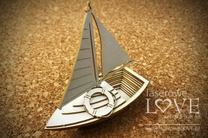Chipboard - Sailboat 3D - Vintage Tropical Island