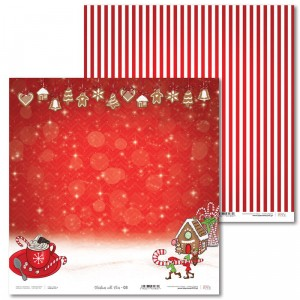 Paper 30 x 30 cm - Christmas with elves - 03 - Laserowe LOVE