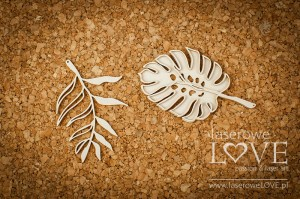 Chipboard - Tropical leaves set 1 - Vintage Tropical Island