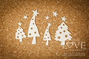 Chipboard - Christmas trees - Winter Fun