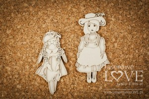 .Chipboard - Dolls - Vintage Baby