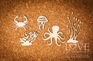 Chipboard - Eight, crab and plants Di Mare