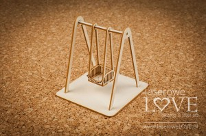 Chipboard - Swing for a baby 3D - Vintage Baby
