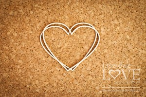 Chipboard - Heart frame intersecting