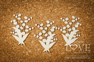 Chipboard -  Lilies of the valley - El Santo Rosario