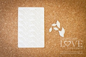 Chipboard - Leaves small set in a blister