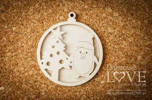 Chipboard - Bubble with penguin shaker box - Winter Fun