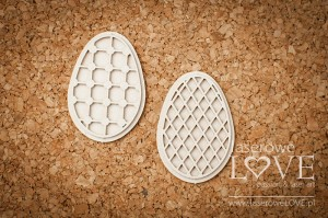 Chipboard - Easter eggs openwork - Easter Bunny