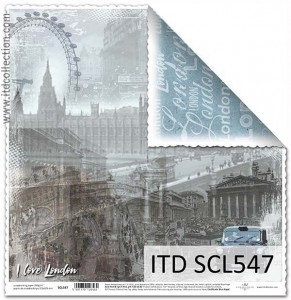 Papier do scrapbookingu - SCL547 - ITD Collection