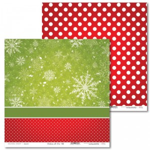 Paper 30 x 30 cm - Christmas with elves - 02 - Laserowe LOVE