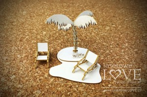 Chipboard - Palm tree 3D - Vintage Tropical Island