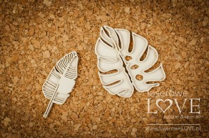 Chipboard - Tropical leaves set 3 - Vintage Tropical Island