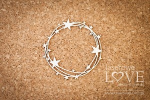 Chipboard - Round frame with stars Le Astre