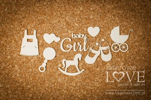 .Chipboard - Set for a girl - Emma & Billy