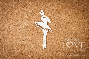.Chipboard - Ballerina in a dress