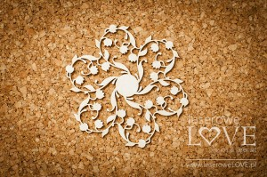 Chipboard - Rosette - Baby lily
