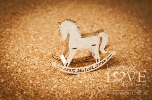 .Chipboard - Rocking horse 3D - Baby lily