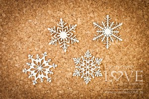 Chipboard - Snowflakes mix Noel