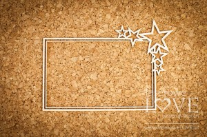 Chipboard - Rectangular frame with a Le Astre star motif