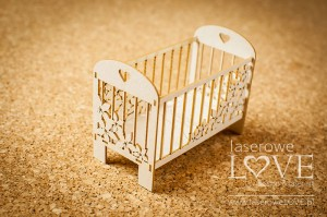.Chipboard - Large crib 3D - Flower