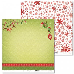 Paper 30 x 30 cm - Christmas with elves - 01 - Laserowe LOVE