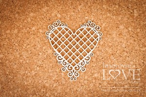 Chipboard - Heart frame with noble ornaments - Net- Paroles