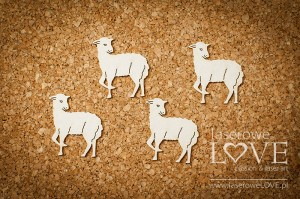 Chipboard  - Lamb 6 pieces - Happy Easter