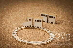 .Chipboard - Train 3D - Vintage Baby