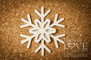 Chipboard - Snowflake shaker box - Winter Fun