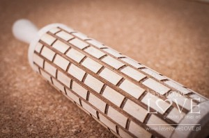 Engraved rolling pin - Bricks