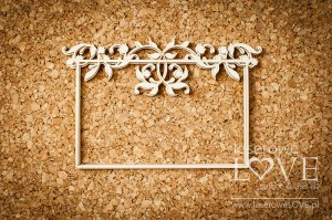 Chipboard - Frame - Baby lily