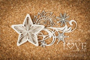 Chipboard - Star shaker box - Shabby Winter