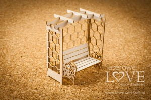 Chipboard - Bench with a bower 3D - Flower