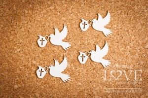 Chipboard -  Pigeon 4 items - Baby lily