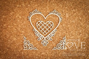 Chipboard - Heart frame with noble ornaments - Paroles