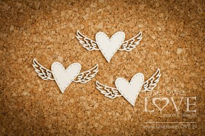 .Chipboard - Heart with wings - Simple Wedding
