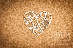 Chipboard - Heart Herbace
