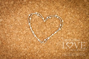 Chipboard - Heart frame with hearts - Soufre