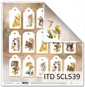 Papier do scrapbookingu - SCL539 - ITD Collection
