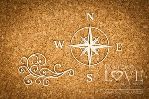Chipboard - Compass and waves Di Mare