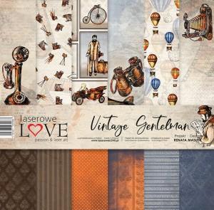 Zestaw papierów - Vintage Gentelman - 30,5 cm x 30,5 cm - Laserowe LOVE