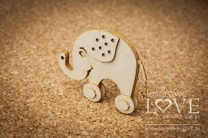 .Chipboard - Elephant 3D - Vintage Baby
